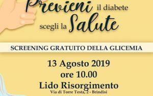 Martedì 13 a Lido Risorgimento incontro di sensibilizzazione sulla prevenzione al diabete