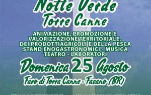 "Domenica 25 a Torre Canne torna la ""Notte Verde"""