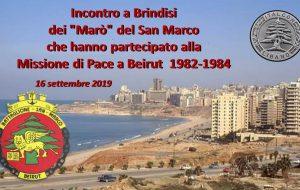 """I """"Marò"""" del Battaglione San Marco si incontrano a Brindisi per ricordare la Missione di Pace Libano a 35 anni di distanza"""