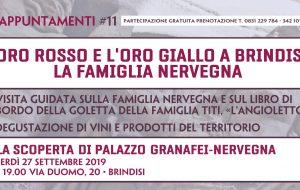 Venerdì 27 a Palazzo Granafei-Nervegna visita sulla famiglia Nervegna