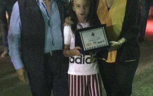 L'Amministrazione comunale dii Mesagne premia la piccola Ludovica Casalino al Circolo Tennis
