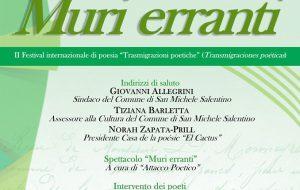 Il Festival internazionale di poesia fa tappa a San Michele Salentino