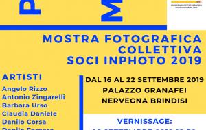 Passioni In Mostra: da Lunedi 16 a Palazzo Nervegna la Collettiva Fotografica dei soci Inphoto
