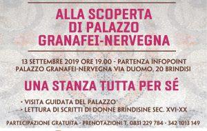 Palazzo Granafei-Nervegna: venerdì 13 visita guidata con letture dedicate alle scritture femminili