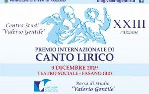 """XXIII Premio Internazionale di Canto Lirico Borsa di Studio """"Valerio Gentile"""": ecco il bando"""