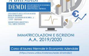 Corso di laurea in Economia Aziendale: mercoledì la presentazione