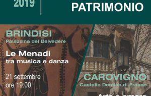 Giornate Europee del Patrimonio: domenica 22 appuntamento al Castello di Carovigno