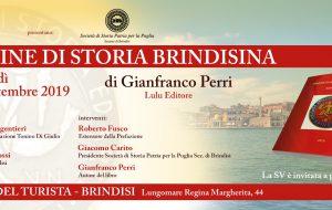 """Martedì 24 alla Casa del Turista si presenta il volume """"Pagine di Storia Brindisina"""" di Gianfranco Perri"""