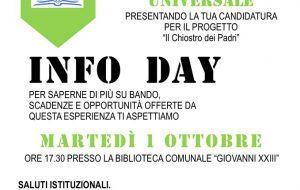 Servizio Civile Universale: Martedi 1° Ottobre Infoday a San Vito dei Normanni