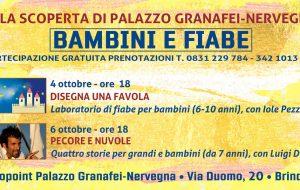 """Venerdì e Domenica a Palazzo Granafei-Nervegna """"i bambini ed il magico mondo delle fiabe"""""""