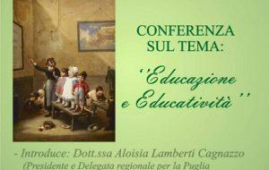 Educazione e Educatività: se ne parla martedì 8 all'Hotel Virgilio di Brindisi