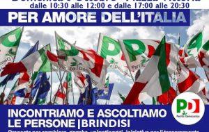 """PD Brindisi: Domenica 6 Ottobre in Piazza Vittoria campagna d'ascolto """"Per il bene dell'Italia"""""""