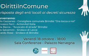 Diritti in Comune: domani l'evento organizzato da Ora tocca a noi