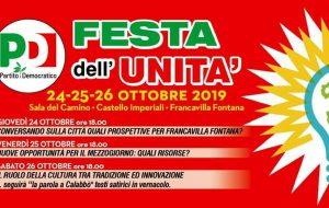 Al via la Festa dell'Unità del Partito Democratico di Francavilla Fontana