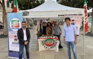 I Giovani di Forza Italia in piazza contro la manovra economica del Governo Conte II