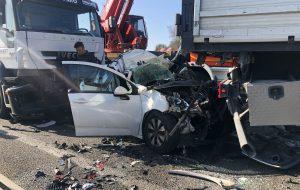 Auto schiacciata tra due tir: una donna perde la vita sulla Lecce-Brindisi