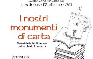 """Domenica di carta: a San Vito la mostra """"I nostri monumenti di carta"""""""