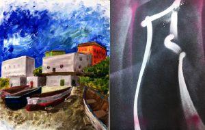 Nuove interpretazioni pittoriche a cura studenti del Liceo Artistico Simone Durano