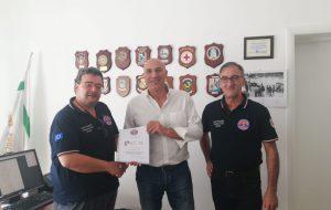 Il comandante Orefice incontra il coordinamento provinciale delle associazioni di Protezione Civile