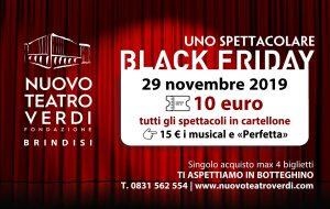 """Nuovo Teatro Verdi: biglietti a prezzo promo nel """"Black Friday"""" degli acquisti"""