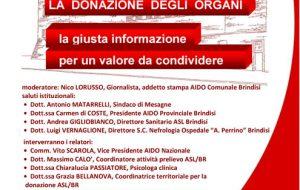 La Donazione Degli Organi, la giusta informazione per un valore da condividere: se me parla giovedì 21 a Mesagne