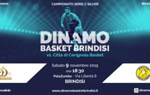 Sabato la Dinamo Brindisi ospita la capolista Cerignola