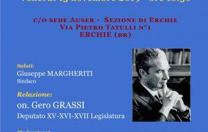"""Venerdì 15 novembre l'on. Gero Grassi ad Erchie su """"Moro: Martire laico"""""""