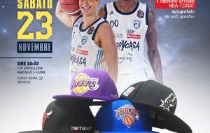 Sabato 23 l'evento Tissot-Naviglio & Fiume: ricevi i cappellini NBA da Brown e Zanelli
