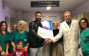 Organizza torneo di calcio per beneficenza, un 21enne dona il ricavato al reparto Neonatologia dell'ospedale Perrino