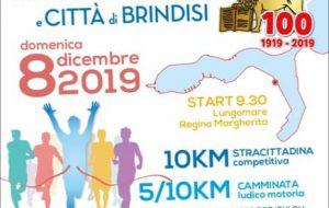 Giovedì la presentazione della XXII Stracittadina Brindisina: si corre l'8 Dicembre