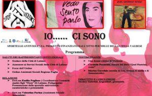 """A Latiano """"Io ci sono"""", evento contro la violenza sulla donna in tutte le sue forme"""