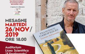 """Martedì 26 Francesco Carofiglio presenta a Mesagne """"L'estate dell'incanto"""""""