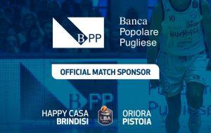 Banca Popolare Pugliese match sponsor di Brindisi-Pistoia