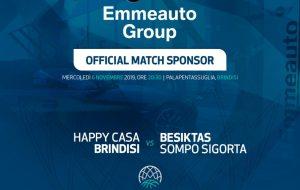 Emmeauto Group match sponsor Happy Casa Brindisi-Besiktas