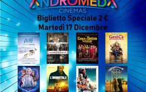 Domani riapre la Multisala Andromeda con la promozione speciale del biglietto a 2 euro
