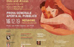 Didone ed Enea – Tra mito e realtà: lunedì 16 prova generale aperta al pubblico al Teatro comunale di Mesagne