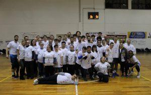 Festa grande al PalaZumbo: la Dinamo dilaga e vince la solidarietà