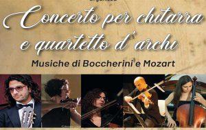 Domenica 15 a Mesagne concerto per chitarra e quartetto d'archi