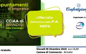 MEPA: un'opportunità per le piccole imprese sul mercato elettronico della P.A.: Confartigianato Brindisi organizza un convegno in Camera di Commercio