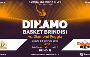 Sabato 11 la Dinamo Basket Brindisi in campo contro Foggia