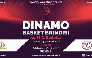 C Silver: Sabato 25 la Dinamo Basket Brindisi sfida Barletta al PalaZumbo