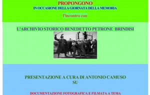 Giorno della Memoria: mercoledì 29 iniziativa nella sede SPI CGIL di Brindisi