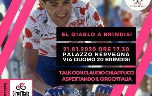 """Giro d'Italia a Brindisi: alle 18.00 """"El Diablo"""" Claudio Chiappucci a Palazzo Nervegna"""
