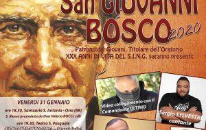 Festa ad Oria per San Giovanni Bosco: aggregazione e riflessione per l'intera provincia.