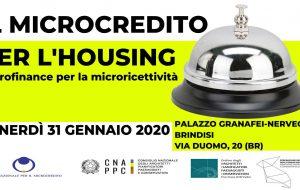 Il Microcredito per l'Housing: venerdì 31 interessante seminario a Palazzo Granafei Nervegna