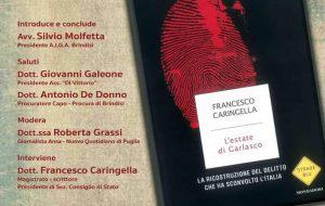 """Aiga: Francesco Caringella presenta a Mesagne il libro """"L'estate di Garlasco"""""""