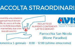 """Avis: Domenica 5 raccolta di sangue presso la Parrocchia """"San Nicola"""", al quartiere Paradiso"""