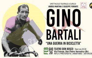 Gino Bartali – Una guerra in bicicletta: il 20 Febbraio la prima al Teatro Don Bosco di San Pietro