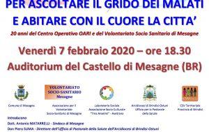 Giornata Mondiale del Malato: il 7 febbraio convegno a Mesagne