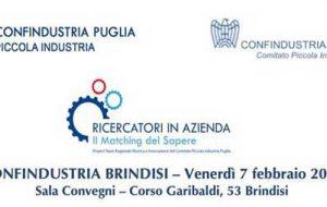 Ricercatori in azienda – Il Matching del Sapere: venerdì 7 l'evento nella sede di Confindustria Brindisi